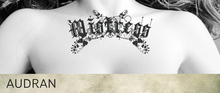 AUDRAN Womens Collarbone Tattoo 'Mistress' Roleplay