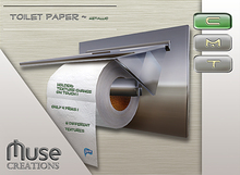 .:Muse Creations:. Toilet Paper Holder (Metallic) boxed