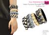 %50WINTERSALE Full Perm Mesh Pyramid Bangles - Bracelets Set