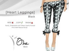 :: One Store :: [Heart Leggings] Black BOX