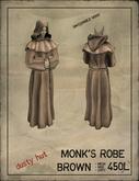 [DustyHut] Monk's Robe - Brown