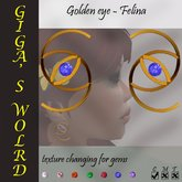 Golden eye earrings - Felina