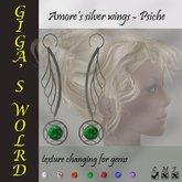 Amore's silver wings (earrings) - Psiche