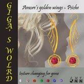 Amore's golden wings (earrings) - Psiche