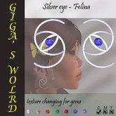 Silver eye earrings - Felina