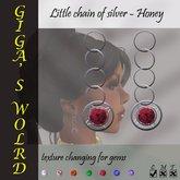 Little chain of silver earrings - Honey