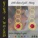 Little chain of gold earrings - Honey