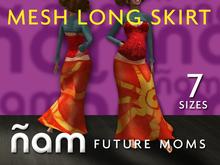 Mesh Long Skirt Batik Orange (Rigged)