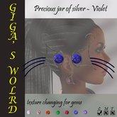 Precious jar silver earrings - Violet