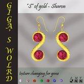 """""""S"""" of gold earrings - Sharon"""