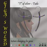 """T""  of silver earrings - Toda"