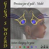 Precious jar of gold earrings - Violet