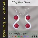 """""""S"""" of silver earrings - Sharon"""