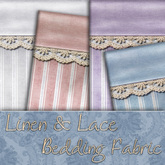 Nighty's Linen & Lace Bedding Fabric Textures (Commercial Use)