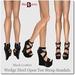 Wedge Heel Open Toe Strap Sandals Black