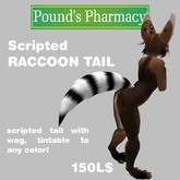 <<PP Raccoon Scripted Flexy Tail<<