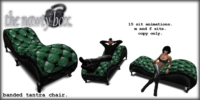 Gothic Banded Tantra Chair Evergreen