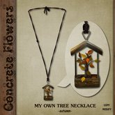 CONCRETE FLOWERS- MY OWN TREE NECKLACE -autumn-