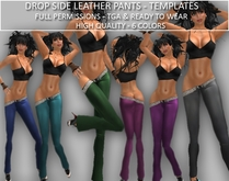 TD TEMPLATES Drop Side Leather Pants Templates - FULL PERMS