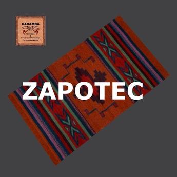 Native Indian Zapotec Rug Red Stripes