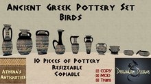 Ancient Greek Pottery Set - Birds