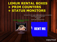 Lemur Rental Boxes + Prim Counter + Remote Status Monitor