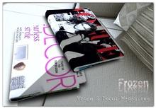 Frozen Vouge Decor Folded Magazines