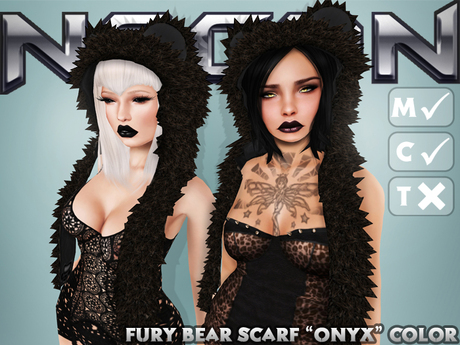 Nacon's Fury Bear Scarf [Onyx] (1.2)