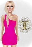 [Cavalieri]-Socialite Dress- Neon Pink