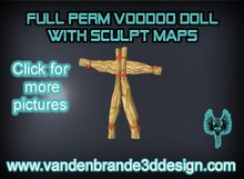 FULL PERM Voodoo doll For Creators WITH Sculpt Maps! only on marketplace!