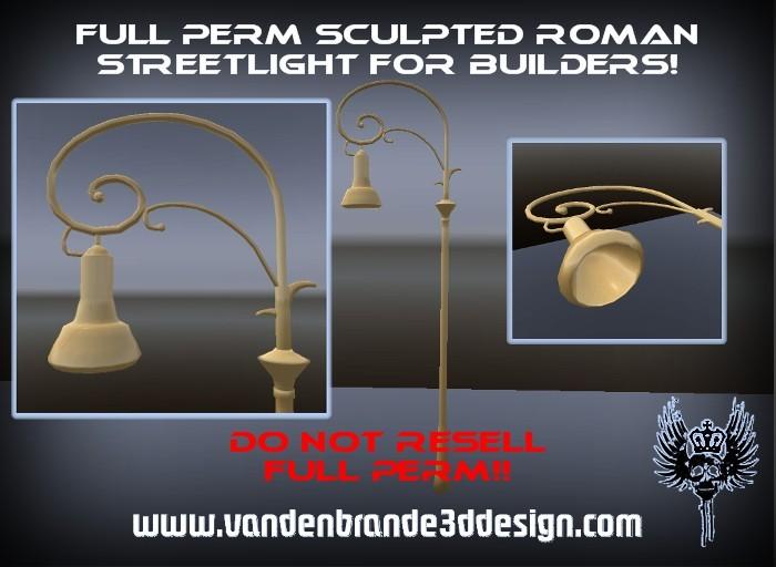 FULL PERM Roman Streetlight For Creators WITH Sculpt Maps!