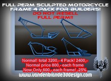 FULL PERM Chopper Frame Pack For Creators WITH Sculpt Maps! CHECK IN WORLD! Only on marketplace