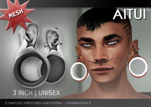 "AITUI - 3"" Stretched Ears, Gen 3 _unisex (CLEARANCE)"