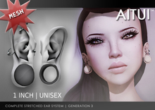 "AITUI - 1"" Stretched Ears, Gen 3 _unisex (CLEARANCE)"