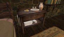 Rustic Wash Basin Stand w/Animations  & Texture Change Menu! Copy/Mod/No Transfer