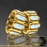 Rock Diamond Gold Braclets Icey Blue - J*C