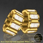 Rock Diamond Gold Bracelets White - J*C