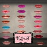 .:::K,M,T:::.Skin Makeup Creators Pouted Lips Set Of 44