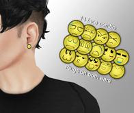 Cobrahive - Plug Earrings - gauges [faces]