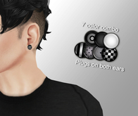 Cobrahive - Plug earrings - gauges [mono]