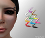 "Cobrahive - Eyebrow Piercing ""Horns"""
