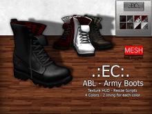 .:EC:. ABL Army Boots [Basic] UNISEX
