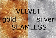 Velvet gold and silver - 2 seamless textures