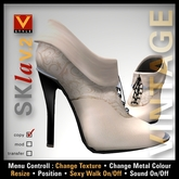 :: V Style SKla V.2 - Vintage :: White Leather Ankle Boots, Leather Boots, Stiletto Boots