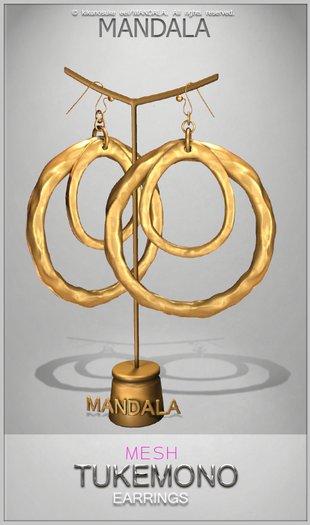 [MANDALA]Tukemono earrings/Gold (WEAR ME)