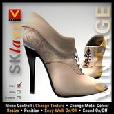 :: V Style SKla V.2 - Vintage :: Cream Leather Ankle Boots, Leather Boots, Stiletto Boots