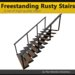 [FYI] Freestanding Rusty Mesh Stairs With 10 Steps