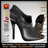 :: V Style SKla V.2 - Vintage :: Black Leather Ankle Boots, Leather Boots, Stiletto Boots