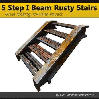 [FYI] 5 Step Rusty Yellow Mesh Stairs