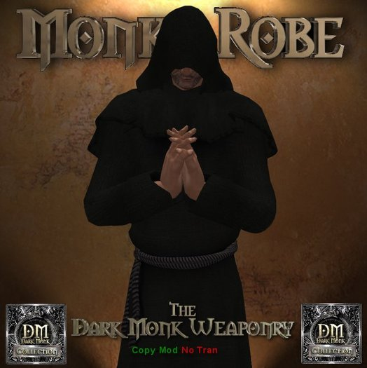 DMW Mesh Monks Robe V2 - Black